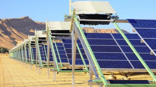 parc solar cu auto curatare