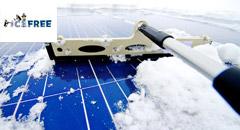 Curatarea zapezii panouri solare