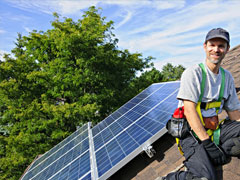 Maintenance photovoltaic panels