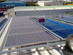 Cleaning solar photovoltaic panels